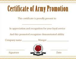certificate of promotion template officer promotion certificate template promotion certificate