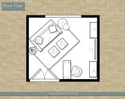 home office plan. Floor Plan For A Home Office Decorating Project By Staging Spaces And Design