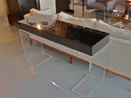 lucite console table. Hill Lucite Console Table