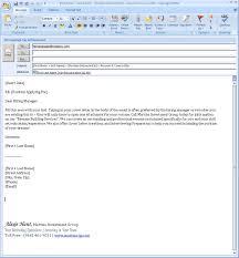 Cover Letter Sending Resume Via Email - Starengineering