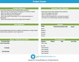 project charter sample project charter template example