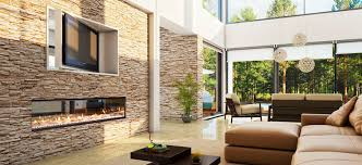 Gas fireplace / contemporary / closed hearth / double-sided - DX1500
