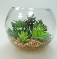 With Glass Bowl Artificial Plant For Home Decorating  Buy With Decorative Plants For Home