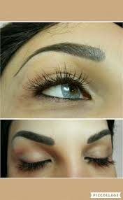eyebrow shading tattoo. eyebrow shading tattoo (dark brown )and mink eyelash extension
