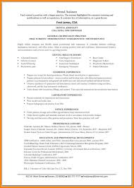 8 Dental Assistant Sample Resume Offecial Letter