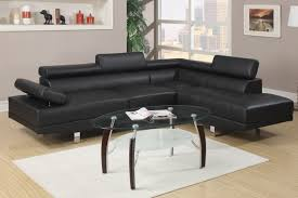 black faux leather sectional sofa less furniture couch dallas small sleeper brown replacement cushions ikea fabric