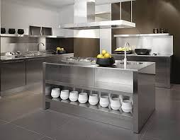 Kitchens:Stainless Steel Kitchen With Modern Kitchen Counter Also Small Kitchen  Island With Storage Stainless