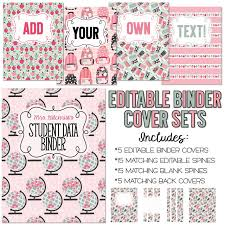Free Editable Binder Covers And Spines Classroom Organization Teacher Binders Win A Free Set