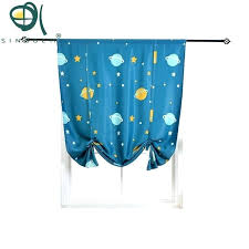 Bedroom Small Window Valance Thermal Insulated Blackout Curtain Celestial Body Design Tie Up Shade For Small Window Heyhat Small Window Valance Valances For Bathroom Windows Curtain Ideas