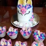 Cupcake Birthday Cake Eadies 3rd Birthday Cake Unicorn Cake With