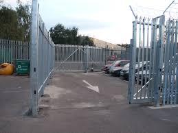 galvanized palisade cantilever sliding gate
