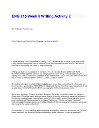 3 5 Essay Format Eng 215 Week 5 Writing Activity 2 By Hwacerworks Issuu