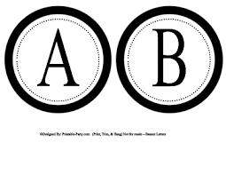 Printable Letter For Banners Printable Alphabet Letters A Z Printable Banner Letters