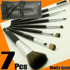 pro makeup brushes set goat hair black pink bag leather pouch new free ship makeup brush set makeup brush cosmetic with 19 68 piece on