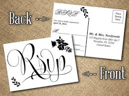 wedding rsvp postcards templates diy wedding rsvp postcard word template vintage romance