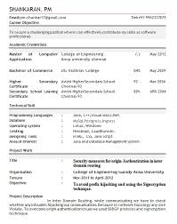 Best Sample Resume For Freshers Engineers Best Resume Format For Freshers Engineers Resume Format