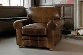 round arm leather armchair