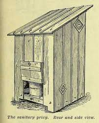 Build an Outhouse With Plans   Homesteading and Livestock        privy back