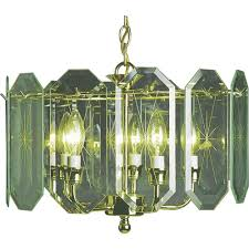 volume lighting 5 light polished brass interior chandelier