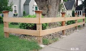 wood rail fence. Delighful Fence Wood Capped Split Rail Fence Throughout