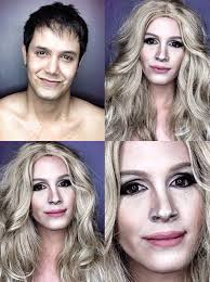 like women with make up makeup looks man transforms into celebrity women 2