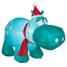 trim a home airblown hippo lawn decoration 4