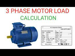 3 phase motor load calculation you