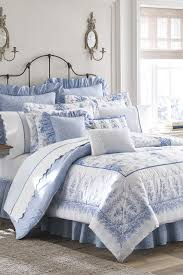 image of laura ashley sophia comforter set blue