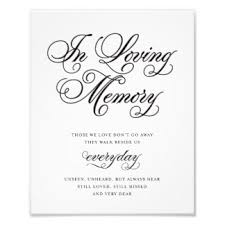 In Memory Of Quotes For Wedding Unique Wedding Ideas