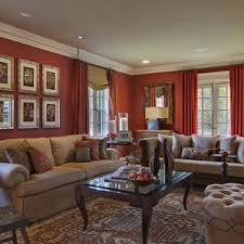 It consists of large low hanging chandeliers. Red And Beige Living Room Ideas Photos Houzz