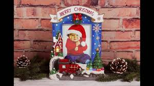 Merry Christmas Light Up Picture Frame Youtube
