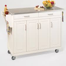 kitchen island cart white. Buy Create A Cart Kitchen Island With Stainless Steel Top Base White -