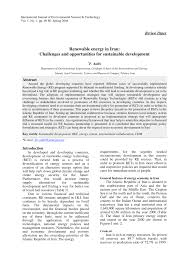 renewable energy in challenges and opportunities for  renewable energy in challenges and opportunities for sustainable development pdf available