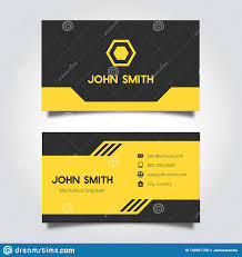 Card Design Template Business Card Design Template Stock Vector Illustration Of