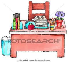 teacher desk clipart. Fine Teacher Stock Illustration  Teacheru0027s Desk Fotosearch Search Clip Art  Drawings Fine Art For Teacher Desk Clipart C