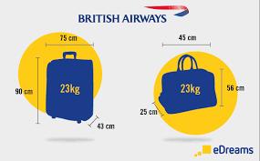 British Airways Baggage Allowance 2019 Edreams