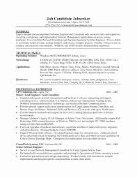 Software Engineer Resume Template New Senior Software Engineer