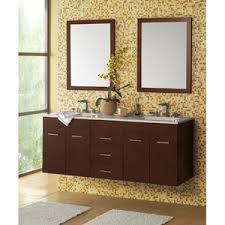 ronbow bathroom sinks. R011223H01/R632115H01/R3655628 Bella Double Vanity Bathroom - Dark Cherry / Wide White Ronbow Sinks