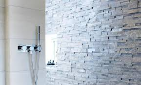 norstone charcoal rock panels used in a shower