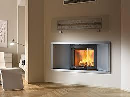 Modern wood burning fireplaces by luxury Italian company Caminetti.
