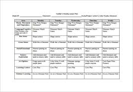 Fall Lesson Plans For Toddlers 8 Toddler Lesson Plan Templates Pdf Word Excel Free Premium