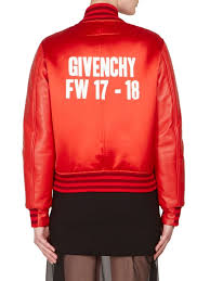 givenchy dutchess satin leather er jacket red women s jackets vests faux givenchy jewelry box pretty and colorful