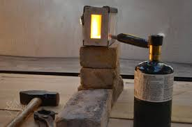 fire brick forge. one brick forge: small blacksmith propane forge fire - mini gas for forging knives, axe, hooks, bottle openers, tongs