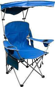quik shade adjule canopy folding camp chair royal blue