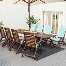 summer outdoor furniture. IKEA ÄPPLARÖ Outdoor Dining Set ($919): Secure Your Spot As The Hostess With Mostest A Fresh And Stylish Set. This Collection Seats Eight Summer Furniture