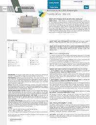 Elite Lighting Can Lights Hh4sq Led Elite Lighting Manualzz Com
