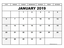 free printable 2019 monthly calendar free 2019 monthly calendar printable