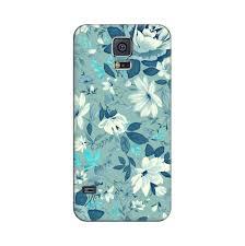 Designer Phone Cases For Samsung Galaxy S5 Mangomask Samsung Galaxy S5 Mobile Phone Case Back Cover Custom Printed Designer Series Blue Rose Floral