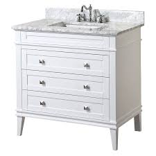 white bathroom vanities with drawers. Kitchen Bath Collection Kbc L36wtcarr Eleanor Bathroom Vanity With Marble Countertop Cabinet Soft Close Function White Vanities Drawers