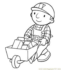 Small Picture Bob The Builder Coloring Page 41 Coloring Page Free Bob the